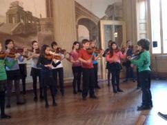 Playing Czardas at Palazzo Cataneo
